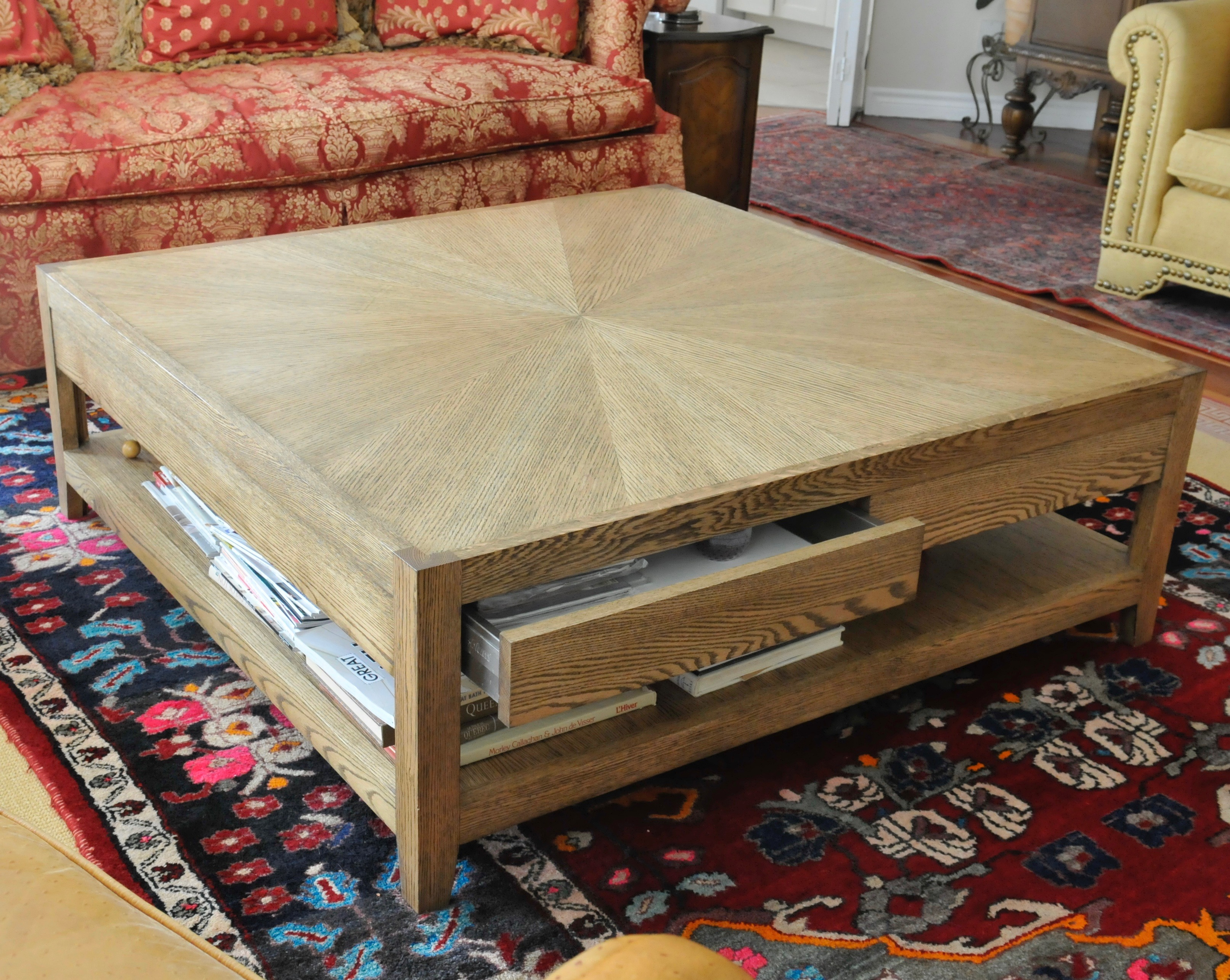 table en chêne sur mesure